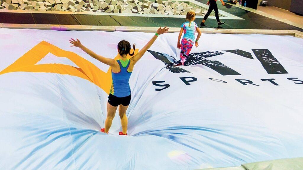 Air bag para parques de trampolines